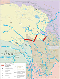 Tibetan Water Diversion Sketch-Map