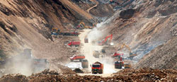 mining at Gyama, central Tibet